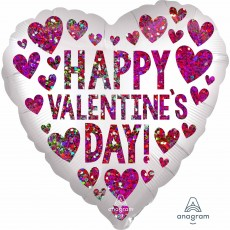 Valentine's Day Satin Sequins Standard XL Shaped Balloon