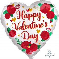 Valentine's Day Party Decorations - Heart Shaped Balloon Satin Roses