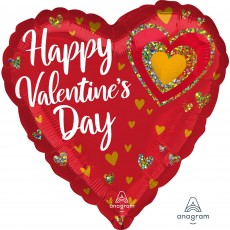 Valentine's Day Party Decorations - Heart Shaped Balloon Glitter Heart