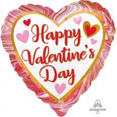 Valentine's Day Marbled Standard HX Shaped Balloon