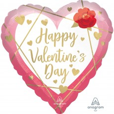 Valentine's Day Standard HX Faceted Shaped Balloon