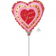 Love Pretty Hea Foil Balloon