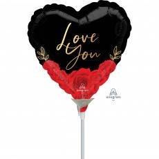 Love Romantic Roses Shaped Balloon
