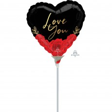 Love Party Decorations - Foil Balloon Romantic Roses Love You