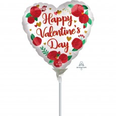 Valentine's Day Satin Infused Roses Shaped Balloon
