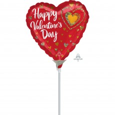 Valentine's Day Glitter Hearts Shaped Balloon