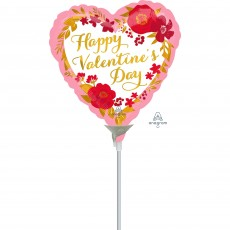 Valentine's Day Floral Wreath Shaped Balloon