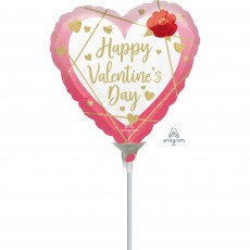 Valentine's Day Party Decorations - Shaped Balloon Faceted Heart 10cm