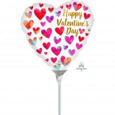 Valentine's Day Painterly Hearts Shaped Balloon