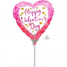 Valentine's Day Watercolour Damask Shaped Balloon