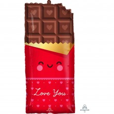 Love SuperShape XL Chocolate Bar Shaped Balloon