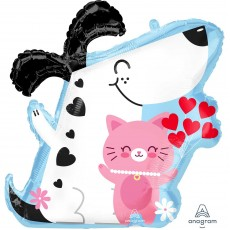 Love Crazy  Dog & Cat Standard Shaped Balloon