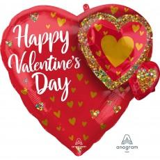 Valentine's Day Multi-Balloon Glitter Garland Shaped Balloon