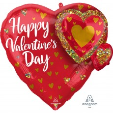 Valentine's Day Party Decorations - Heart Shaped Balloon Multi