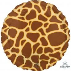 Jungle Animals Standard HX Giraffe Print Animalz Foil Balloon
