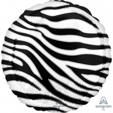 Jungle Animals Standard HX Zebra Print Animalz Foil Balloon