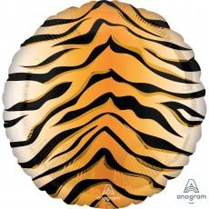 Jungle Animals Standard HX Tiger Print Animalz Foil Balloon