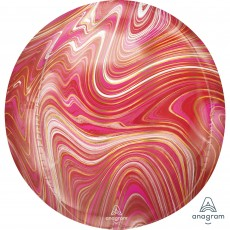 Pink Marblez Red &  Shaped Balloon