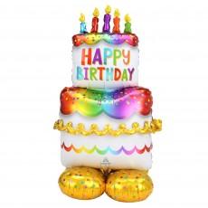 Happy Birthday CI: AirLoonz Cake Shaped Balloon 68cm x 134cm