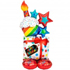 Happy Birthday CI: AirLoonz Stacked Icons Foil Balloon