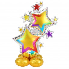 New Year Party Decorations - Shaped Balloon AirLoonz Colourful Star