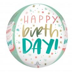 Happy Birthday Cake Shaped Balloon