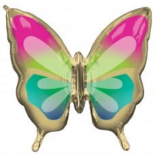 Hawaiian Luau Party Supplies - Balloon SuperShape Tropical Butterfly