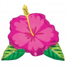 Hawaiian Luau Party Decorations - Shaped Balloon Tropical Hibiscus