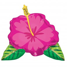 Hawaiian Luau SuperShape Beautiful Tropical Hibiscus Flower Shaped Balloon