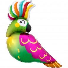 Hawaiian Luau SuperShape Tropical Parrot Shaped Balloon