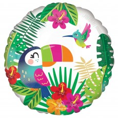 Hawaiian Luau Tropical Paradise Standard HX Foil Balloon