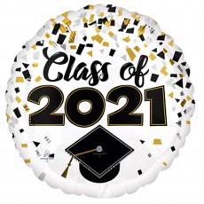 Graduation Standard HX Confetti Foil Balloon