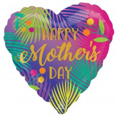 Mother's Day Party Decorations - Heart Shaped Balloon Tropical Palm