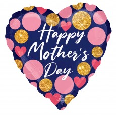Mother's Day Party Decorations - Shaped Balloon Glitter Dots Jumbo HX