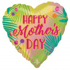 Mother's Day Party Decorations - Heart Shaped Balloon Jumbo Tropical