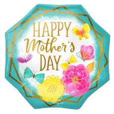 Mother's Day SuperShape XL Flowers & Gold Trim Shaped Balloon