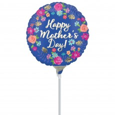 Mother's Day Party Decorations - Foil Balloon Circled in Flowers