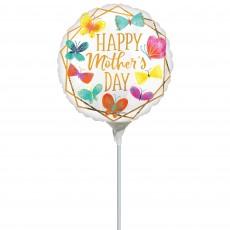 Mother's Day Butterflies & Gold Trim Foil Balloon