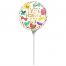 Mother's Day Party Decorations - Foil Balloon Butterflies Gold Trim