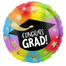 Graduation Party Decorations - Foil Balloon Standard HX Colourful