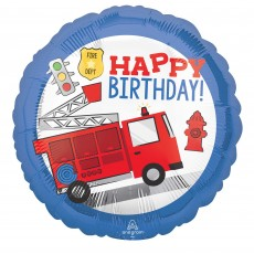 Firefighter First Responders Fire Truck Standard HX Foil Balloon