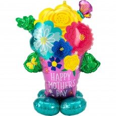 Mother's Day Party Decorations - Balloon CI:AirLoonz Pretty Flower Pot