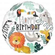 Jungle Animals Party Decorations - Foil Balloon Get Wild Standard HX
