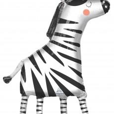 Jungle Animals Party Decorations - Shaped Balloon SuperShape Zebra