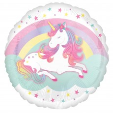 Magical Unicorn Party Decorations - Foil Balloon Enchanted Unicorn Standard HX