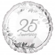 25th Anniversary Party Decorations - Foil Balloon Standard HX