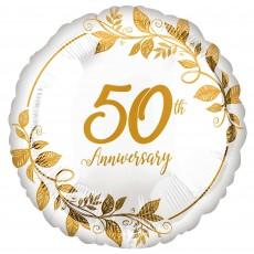 50th Anniversary Party Decorations - Foil Balloon Standard HX