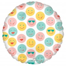 Emoji Party Decorations - Foil Balloon Smiley Faces Standard HX