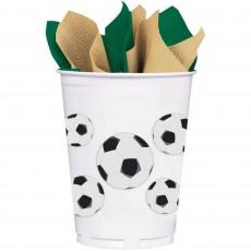 Soccer Fan Plastic Cups 414ml Pack of 8