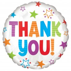 Thank You Party Decorations - Foil Balloon Colourful Stars Standard HX